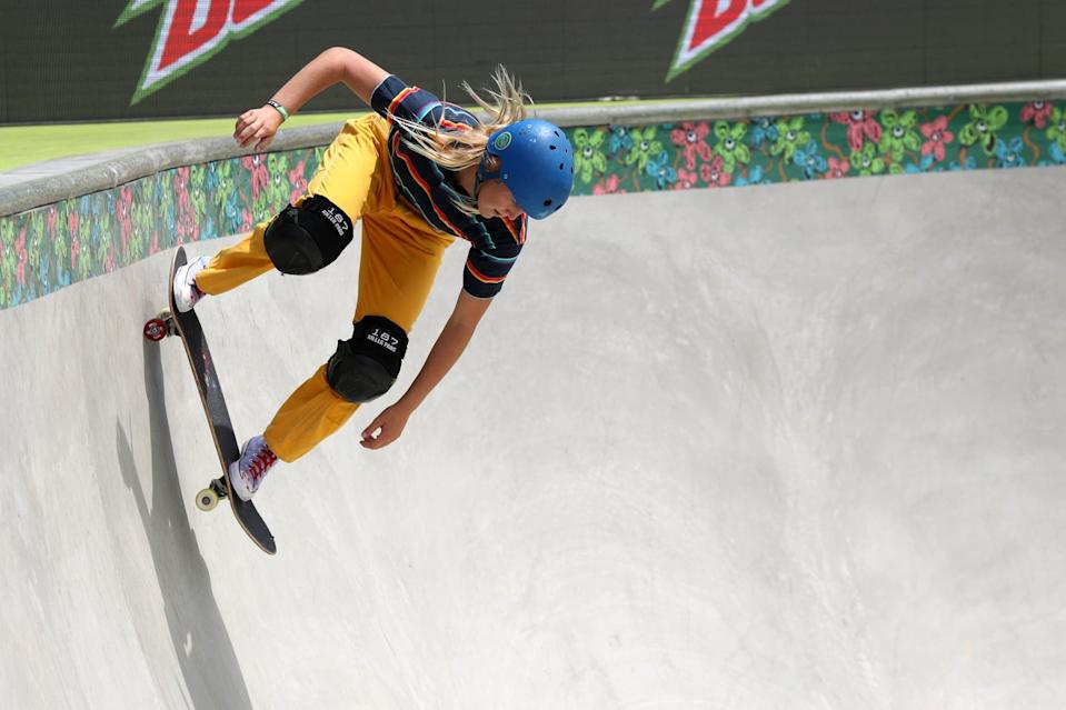 """<p>With a wooden skating bowl in her back yard, it's clear that skateboarding is an important part of Wettstein's day-to-day life. The 2019 USA National Champion for women's park said <a href=""""http://youtu.be/PXTEzHM0y4w?t=449"""" class=""""link rapid-noclick-resp"""" rel=""""nofollow noopener"""" target=""""_blank"""" data-ylk=""""slk:Monday at the USA Skateboarding announcement"""">Monday at the USA Skateboarding announcement</a> that """"skateboarding makes you hone in on what something is for its true meaning."""" For more about Wettstein, check out her <a href=""""http://usaskateboarding.com/blogs/2020-usa-skateboarding-national-team/bryce-wettstein-womens-park"""" class=""""link rapid-noclick-resp"""" rel=""""nofollow noopener"""" target=""""_blank"""" data-ylk=""""slk:USA Skateboarding profile"""">USA Skateboarding profile</a>.</p> <p><strong>Olympic Team</strong>: Women's Skateboard Park</p> <p><strong>Age:</strong> 16</p> <p><strong>Hometown:</strong> Encinitas, CA</p> <p><strong>Instagram: </strong><a href=""""http://instagram.com/brycewettstein"""" class=""""link rapid-noclick-resp"""" rel=""""nofollow noopener"""" target=""""_blank"""" data-ylk=""""slk:@brycewettstein"""">@brycewettstein</a></p>"""
