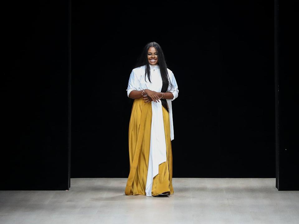 "<p>Dumebi Iyamah is a Nigerian fashion designer who launched her swimwear line <a href=""https://www.popsugar.com/fashion/photo-gallery/47240132/image/47240188/Dumebi-Iyamah-Andrea-Iyamah"" class=""link rapid-noclick-resp"" rel=""nofollow noopener"" target=""_blank"" data-ylk=""slk:Andrea Iyamah"">Andrea Iyamah</a> in 2013. The pieces are inspired by ""color, ethnic cultures, nature, and design elements."" The brand has also moved into ready-to-wear pieces with celebrities like <a class=""link rapid-noclick-resp"" href=""https://www.popsugar.co.uk/Gabrielle-Union"" rel=""nofollow noopener"" target=""_blank"" data-ylk=""slk:Gabrielle Union"">Gabrielle Union</a> and <a class=""link rapid-noclick-resp"" href=""https://www.popsugar.co.uk/Michelle-Obama"" rel=""nofollow noopener"" target=""_blank"" data-ylk=""slk:Michelle Obama"">Michelle Obama</a>, to name a few.</p>"
