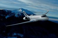 A Bombardier Global 5500 is seen in an undated artist's rendering