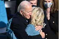 """<p>""""I adore her. I'm gonna sound so stupid — I was saying the other day, when she comes down the steps and I look at her, my heart still skips a beat,"""" Joe told <a href=""""https://people.com/politics/jill-biden-will-continue-to-teach-if-she-becomes-first-lady/"""" rel=""""nofollow noopener"""" target=""""_blank"""" data-ylk=""""slk:CBS."""" class=""""link rapid-noclick-resp"""">CBS.</a></p>"""