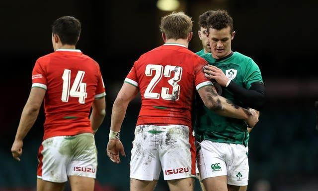 Billy Burns, pictured, right, and Ross Byrne would be the options to replace Johnny Sexton