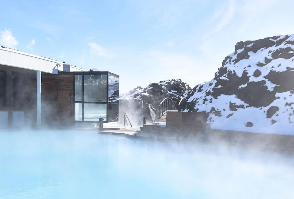 "<p>In case you didn't know, this iconic Icelandic landmark also serves as a sleek wellness retreat for the ultimate vacation. <a href=""https://www.bluelagoon.com/accommodation/retreat-hotel"" rel=""nofollow noopener"" target=""_blank"" data-ylk=""slk:The Retreat Hotel"" class=""link rapid-noclick-resp"">The Retreat Hotel</a> offers exclusive wellness experiences unlike anything else on Earth, with treatments inspired by the incredible natural surroundings. Using the elements and healing properties right outside your door, guests can enjoy rejuvenation at the property's hidden spa and the Blue Lagoon itself. </p>"
