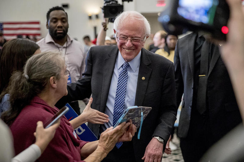 Sanders glides toward primary day as moderates brawl