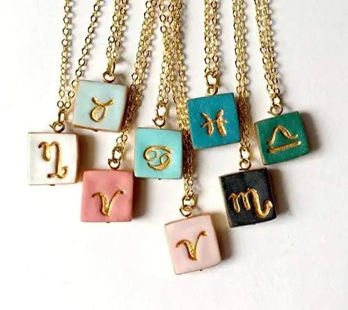 <p>The <span>Small Charm Zodiac Necklace</span> ($30) is so cute and dainty! </p>