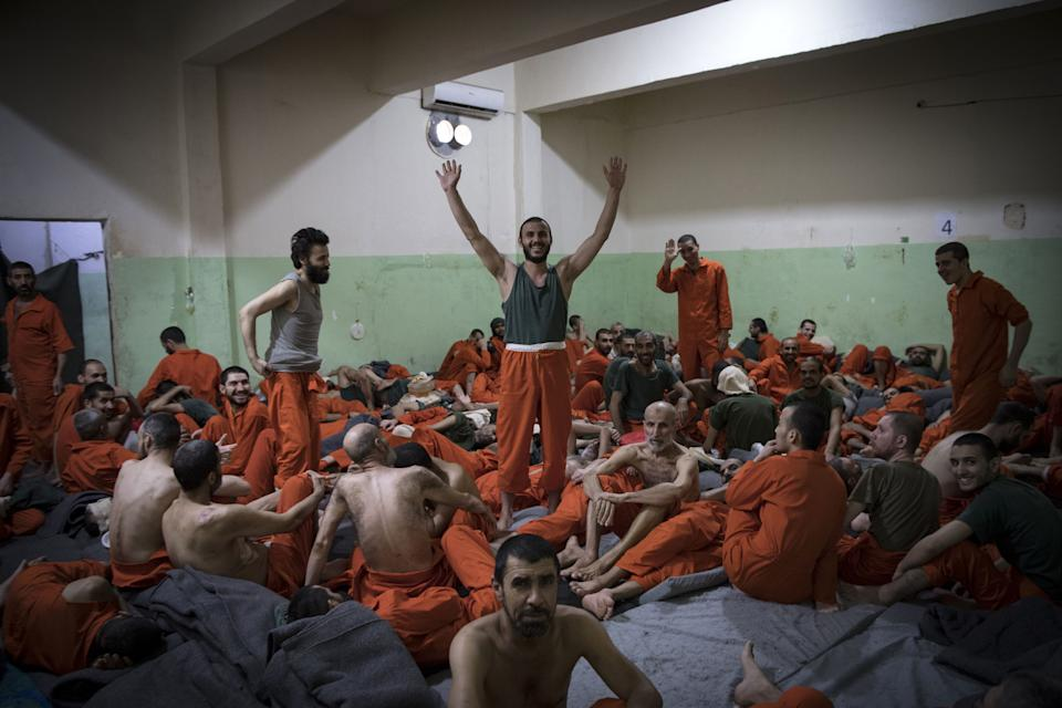 Many of the prisoners are stuck in limbo with their countries not willing to take them back (Picture: AFP)