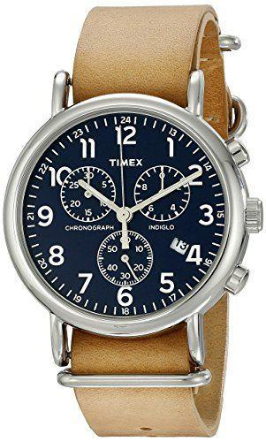 """<p><strong>Timex</strong></p><p>amazon.com</p><p><strong>$56.68</strong></p><p><a href=""""https://www.amazon.com/dp/B00QIJ62M2?tag=syn-yahoo-20&ascsubtag=%5Bartid%7C10050.g.5104%5Bsrc%7Cyahoo-us"""" rel=""""nofollow noopener"""" target=""""_blank"""" data-ylk=""""slk:Shop Now"""" class=""""link rapid-noclick-resp"""">Shop Now</a></p><p>This oversized leather-strap watch has oodles of cool features: an auto shut-off for battery preservation, a nightlight mode, and up to 30 meters of water resistance.</p>"""