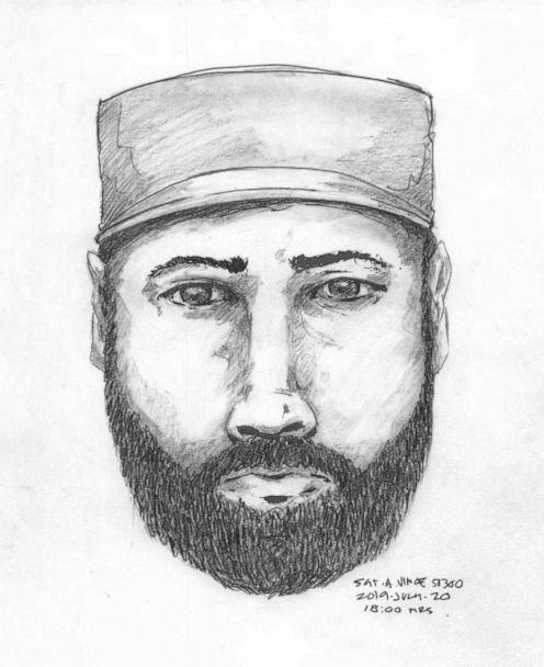 PHOTO: A composite sketch of a man seen talking to Lucas Robertson Fowler on British Columbia Highway 97 on July 14. The following day, Fowler and his girlfriend, Chynna Noelle. (Royal Canadian Mounted Police)