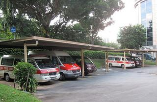Ambulance parking lot