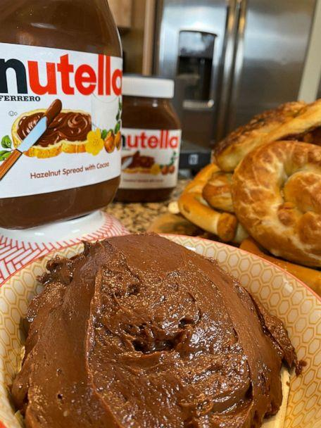 PHOTO: A bowl of Nutella dipping sauce for air fryer pretzels from chef George Duran. (George Duran)