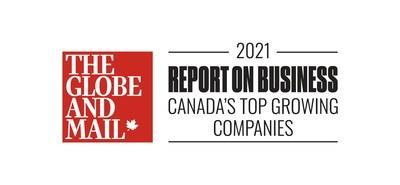 The Globe and Mail Top Growing Companies Report on Business 2021 (CNW Group/MOBIA Technology Innovations Inc.)