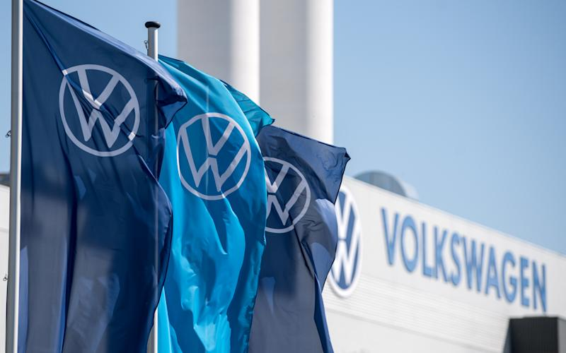 VW erntet Kritik. (Bild: Hendrik Schmidt/picture alliance via Getty Images)