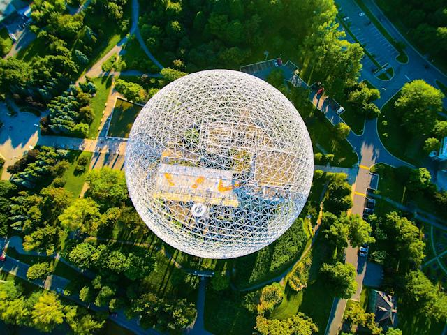 <p>Montreal Biosphere, by pixupLatitude, taken at 586.5 feet. (Caters News) </p>