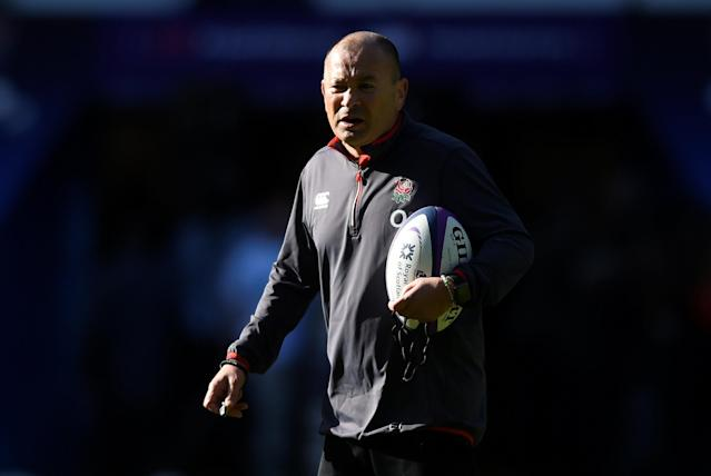Rugby Union - England Training - Twickenham Stadium, London, Britain - February 16, 2018 England head coach Eddie Jones during training Action Images via Reuters/Adam Holt
