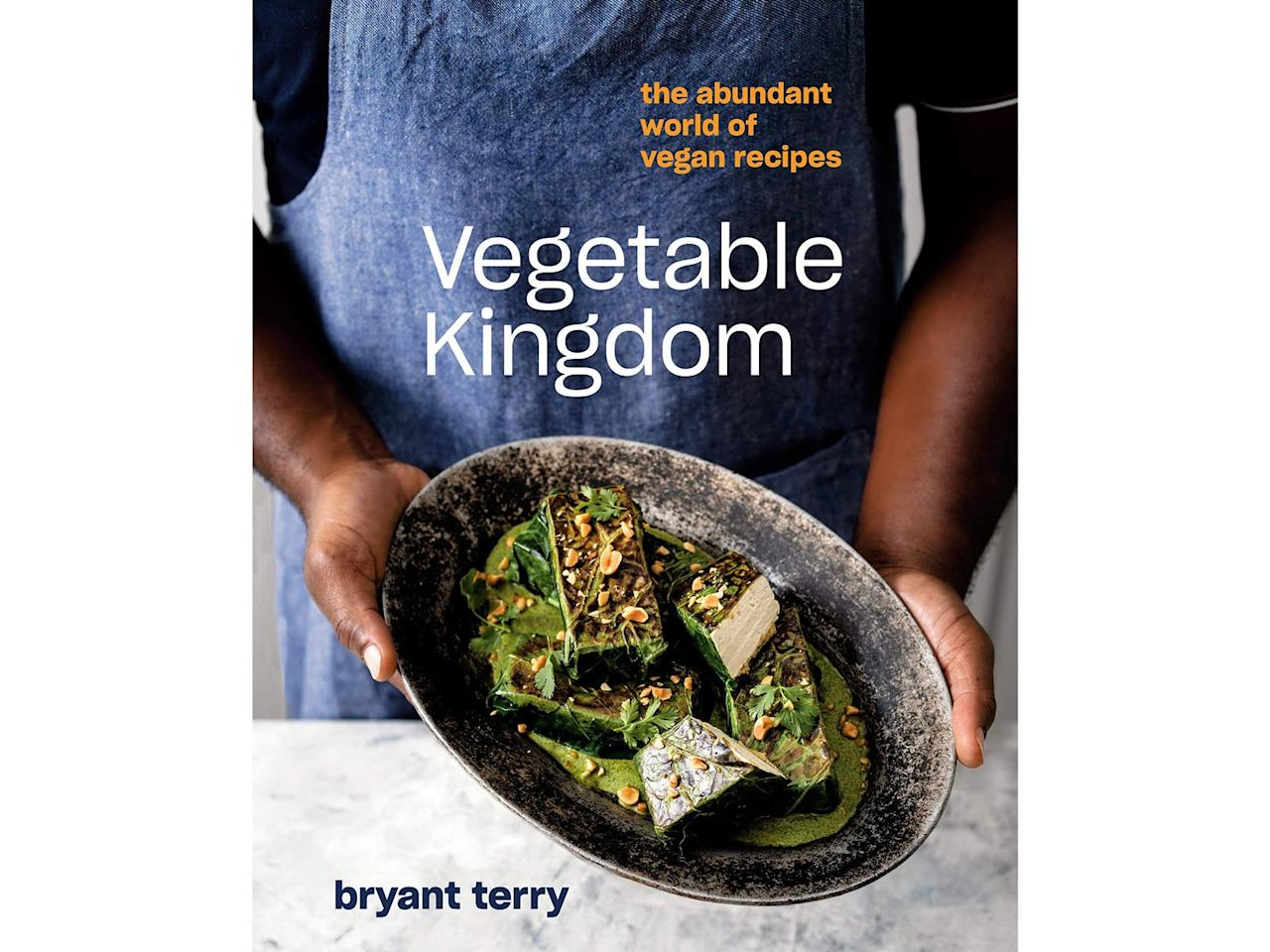 """<p>Popular vegetables, grains, and legumes take center stage in this brand new cookbook from food justice activist Bryant Terry. The book is organized according to ingredient, so you can focus on the central veggies you have on-hand and whatever is in season. Make hearty vegan dishes like barbecued carrots with slow-cooked white beans or millet roux mushroom gumbo—no meat substitutes required.</p> <p><strong><em>Vegetable Kingdom: The Abundant World of Vegan Recipes</em> by Bryant Terry (2020), $30 at <a href=""""https://www.amazon.com/gp/product/0399581049/ref=as_li_ss_tl?ie=UTF8&linkCode=ll1&tag=fwvegetariancookbooksmsoll0120-20&linkId=908e841e39f041cc76619f03c937fc74&language=en_US"""" target=""""_blank"""">amazon.com</a></strong></p>"""