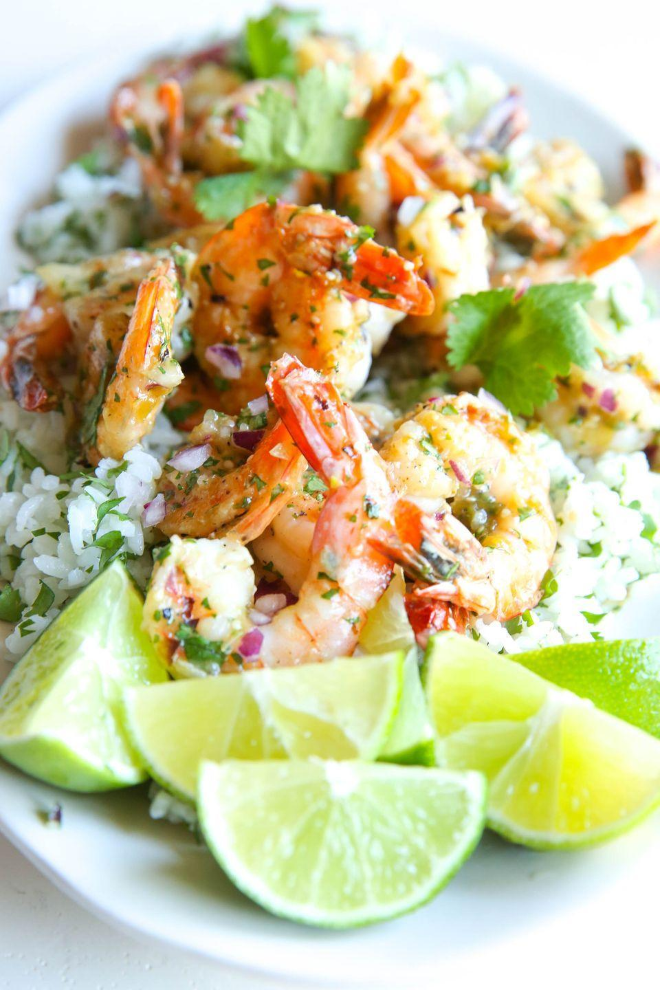 """<p>Watch your back, Chipotle.</p><p><span class=""""redactor-invisible-space"""">Get the recipe from <a href=""""https://www.delish.com/cooking/recipe-ideas/recipes/a51161/salsa-verde-shrimp-with-cilantro-rice-recipe/"""" rel=""""nofollow noopener"""" target=""""_blank"""" data-ylk=""""slk:Delish"""" class=""""link rapid-noclick-resp"""">Delish</a>.</span></p>"""
