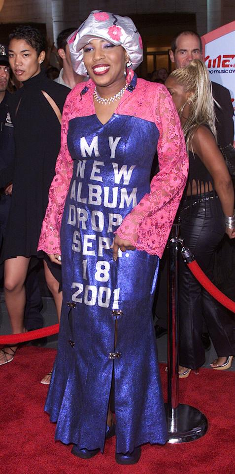"""Grammy winner Macy Gray, who's never been exactly shy, went overboard promoting her album <i>The Id</i> back in 2001. Unfortunately for her, both the singer's songs and the granny getup were flops. Dave Hogan/<a href=""""http://www.gettyimages.com/"""" target=""""new"""">GettyImages.com</a> - September 6, 2001"""