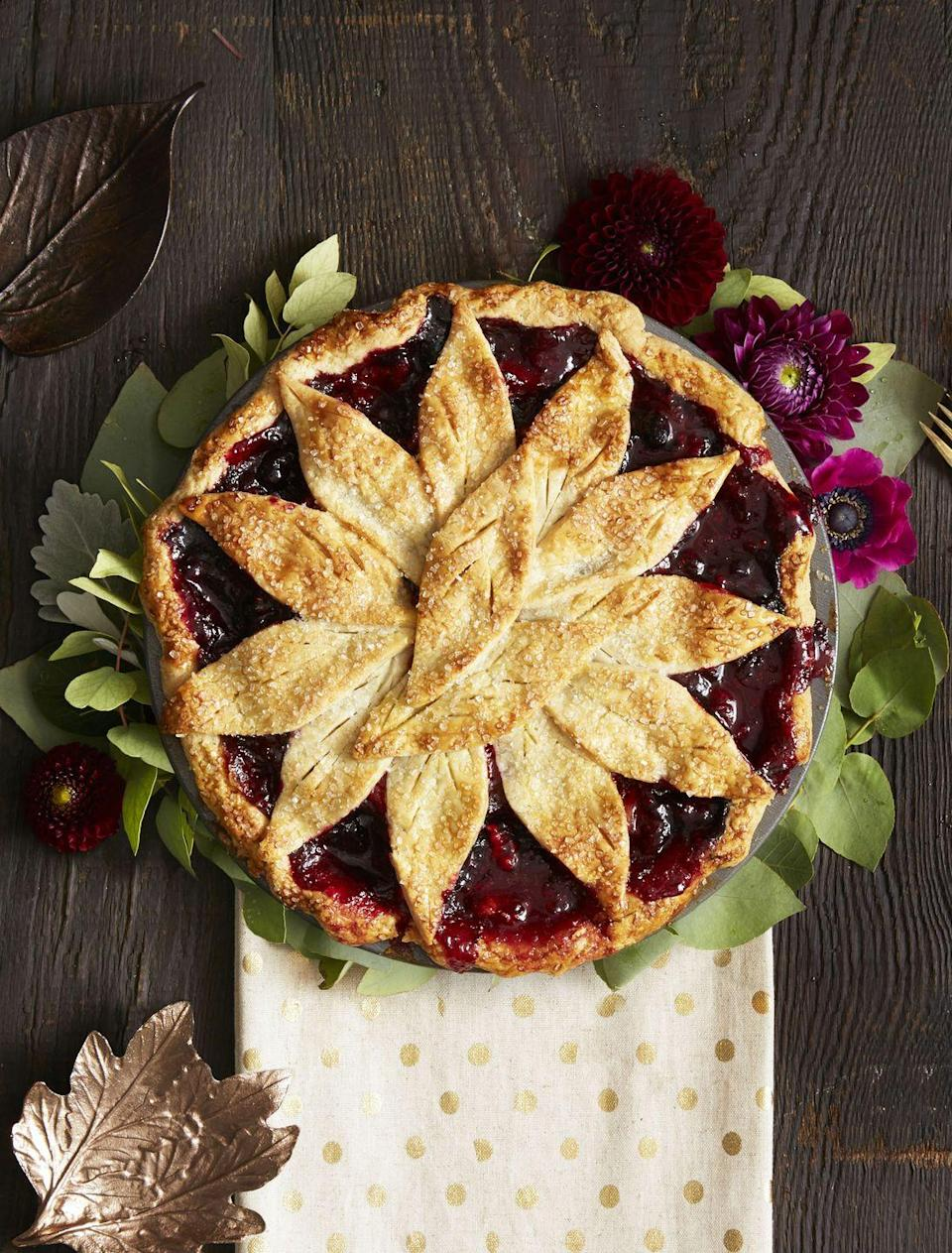 "<p>A trio of frozen berries is responsible for the gorgeous dark hue of this apple pie.</p><p><a href=""https://www.goodhousekeeping.com/food-recipes/dessert/a35188/very-berry-apple-pie/"" rel=""nofollow noopener"" target=""_blank"" data-ylk=""slk:Get the recipe for Very Berry Apple Pie »"" class=""link rapid-noclick-resp""><em>Get the recipe for Very Berry Apple Pie »</em></a></p>"