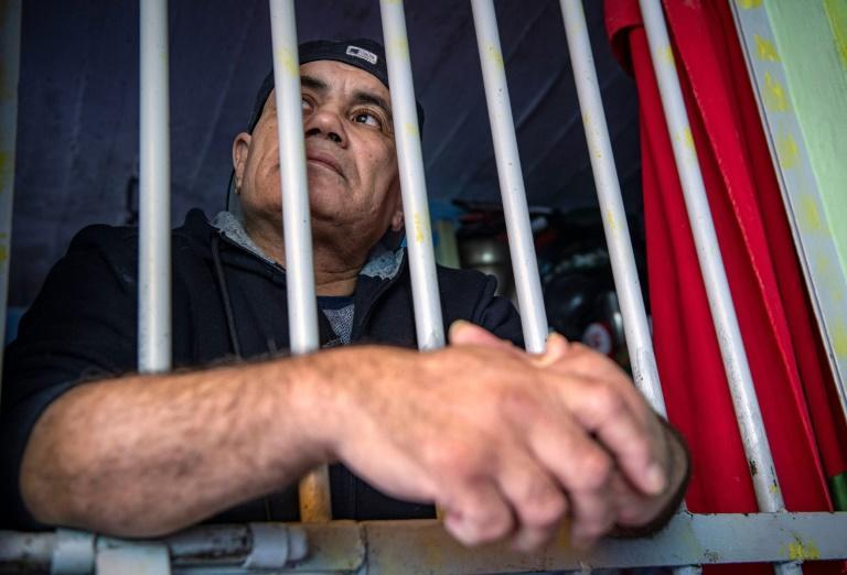 Former prisoner Mohamed Bentazout, released in 2020 after 20 years in jail, has built a replica of his cell at his family house in the city of Kenitra