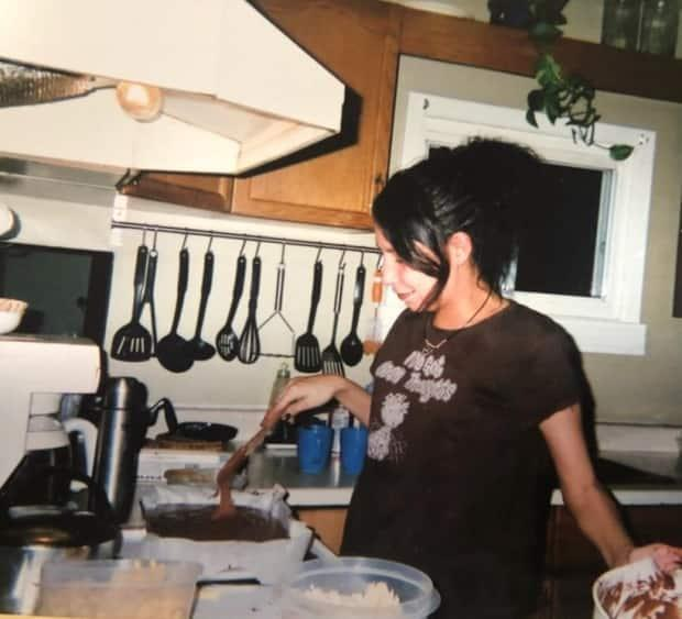 Cindy Gladue, cooking in the kitchen. Her family says Gladue always made breakfast for her mother, Donna McLeod.