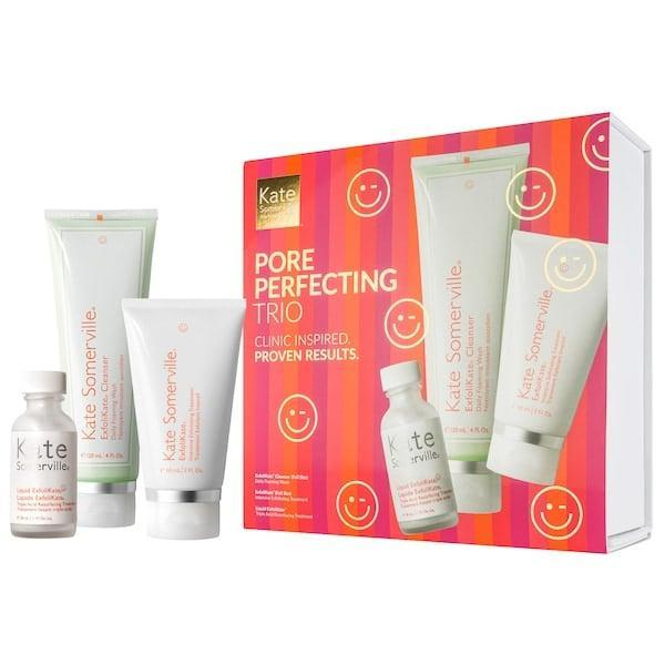 <p>There's a full-sized cleanser and exfoliating treatment inside this <span>Kate Somerville ExfoliKate Pore Perfecting Trio</span> ($64, originally $85), along with a mini toner.</p>
