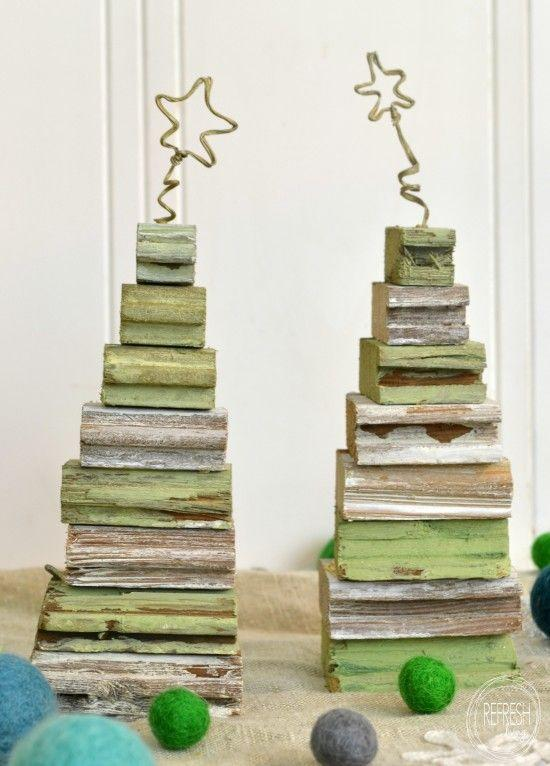 """<p>Ah, finally a clever use for all that scrap wood you've been keeping around. For an extra-festive, rustic look, touch up the pieces with green milk paint before glueing them together.</p><p><strong>Get the tutorial at <a href=""""https://refreshliving.us/scrap-wood-christmas-trees-the-christmas-link-up/"""" rel=""""nofollow noopener"""" target=""""_blank"""" data-ylk=""""slk:Refresh Living"""" class=""""link rapid-noclick-resp"""">Refresh Living</a>.</strong></p><p><a class=""""link rapid-noclick-resp"""" href=""""https://www.amazon.com/Old-Fashioned-Milk-Paint-Green/dp/B003CMPZJY?tag=syn-yahoo-20&ascsubtag=%5Bartid%7C10050.g.23322271%5Bsrc%7Cyahoo-us"""" rel=""""nofollow noopener"""" target=""""_blank"""" data-ylk=""""slk:SHOP MILK PAINT"""">SHOP MILK PAINT</a><br></p>"""