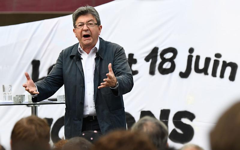 French far-left coalition La France Insoumise (LFI) leader Jean-Luc Melenchon has vowed to fight Macron's plans for labour reforms - Credit: AFP