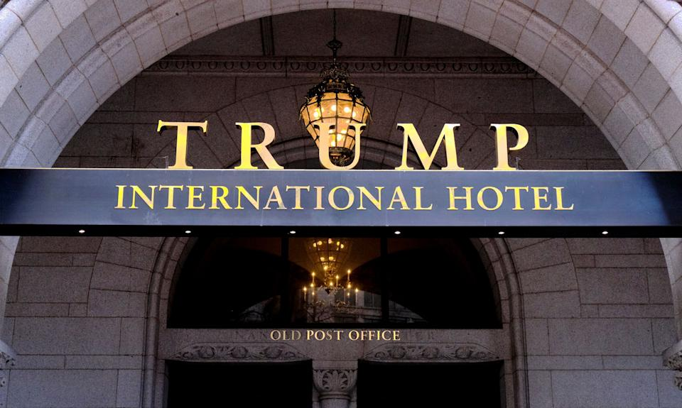 Trump has continued to promote and visit his own properties, using them for campaign and government business. (Photo: Mark Tenally/Associated Press)