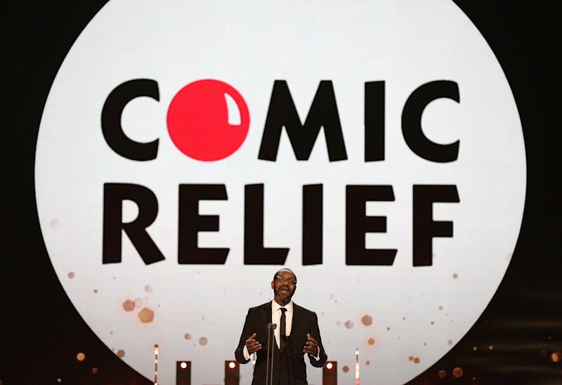Lenny Henry accepts the Landmark Award for Comic Relief during the 2015 National Television Awards at the O2 Arena, London.