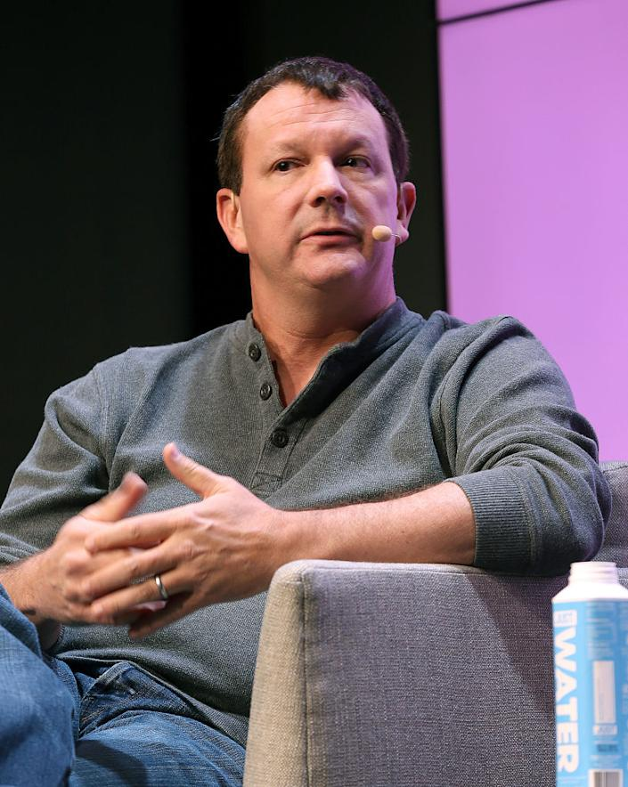 """Brian Acton speaks at the WIRED25 Summit November 08, 2019 in San Francisco, California.<span class=""""copyright"""">Phillip Faraone/Getty Images for WIRED</span>"""