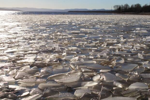 Melting ice photographed in Atlantic Canada.  (Submitted by Isabelle Bauge - image credit)
