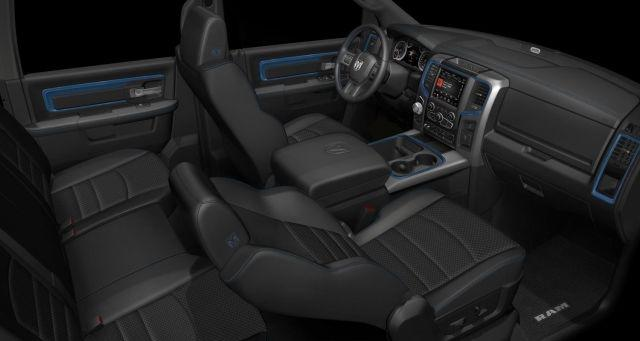 Inside the 2018 Model Year Ram 1500 Hydro Blue Sport
