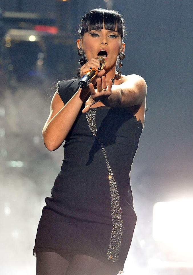 Nelly Furtado performs at the 2009 American Music Awards at Nokia Theatre L.A. Live on November 22, 2009 in Los Angeles, California.