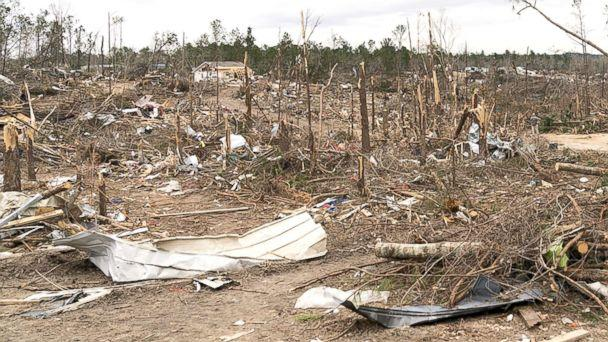 PHOTO: The view of the destruction caused by a massive tornado in Beauregard, Ala., March. 08, 2019. (Shealah Craighead via ZUMA )