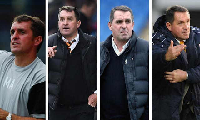 The many ages – and stints – of Martin Allen, Barnet manager.
