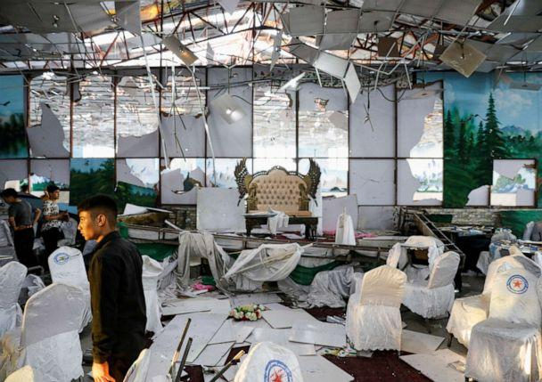PHOTO: Workers of a wedding hall inspect after a blast in Kabul, Afghanistan, on Saturday, Aug. 18, 2019. (Mohammad Ismail/Reuters)
