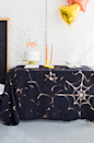 """<p>Give your everyday tablecloth a rest and go for this cobweb-patterned design for a festive look.</p><p><em><a href=""""http://thehousethatlarsbuilt.com/2016/10/diy-spider-web-tablecloth.html/"""" rel=""""nofollow noopener"""" target=""""_blank"""" data-ylk=""""slk:Get the tutorial at The House That Lars Built »"""" class=""""link rapid-noclick-resp"""">Get the tutorial at The House That Lars Built »</a></em></p>"""