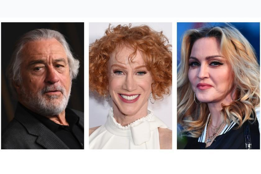 (L-R) Robert De Niro, Kathy Griffin, and Madonna.