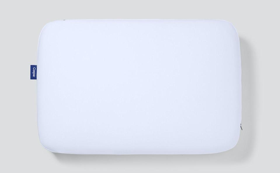 """<p><strong>Casper</strong></p><p>casper.com</p><p><a href=""""https://go.redirectingat.com?id=74968X1596630&url=https%3A%2F%2Fcasper.com%2Fpillows%2Ffoam-pillow%2F%3FproductType%3Dmid-loft&sref=https%3A%2F%2Fwww.womenshealthmag.com%2Flife%2Fg36148698%2Fbest-memory-foam-pillows%2F"""" rel=""""nofollow noopener"""" target=""""_blank"""" data-ylk=""""slk:Shop Now"""" class=""""link rapid-noclick-resp"""">Shop Now</a></p><p>Casper's cult-favorite memory foam pillow consists of three foam layers to support alignment and keep you cool throughout the night. People can't stop talking about this pillow.</p>"""