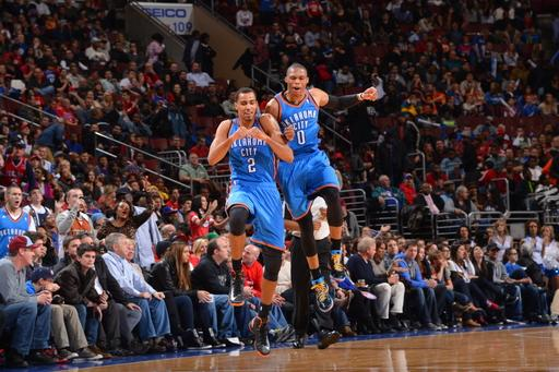 Durant, Westbrook lead Thunder over 76ers