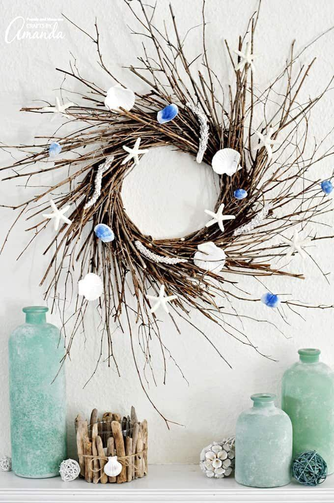 "<p>You can almost smell the sea thanks to this lovely wreath, which you can make with sticks collected in your yard or local park.</p><p><strong>Get the tutorial at <a href=""https://craftsbyamanda.com/coastal-wreath/"" rel=""nofollow noopener"" target=""_blank"" data-ylk=""slk:Crafts by Amanda"" class=""link rapid-noclick-resp"">Crafts by Amanda</a>.</strong></p><p><a class=""link rapid-noclick-resp"" href=""https://www.amazon.com/KINGLAKE-Christmas-Industrial-Materials-Applications/dp/B00WHXQIJA/ref=as_li_ss_tl?tag=syn-yahoo-20&ascsubtag=%5Bartid%7C10050.g.4395%5Bsrc%7Cyahoo-us"" rel=""nofollow noopener"" target=""_blank"" data-ylk=""slk:SHOP TWINE"">SHOP TWINE</a><br></p>"