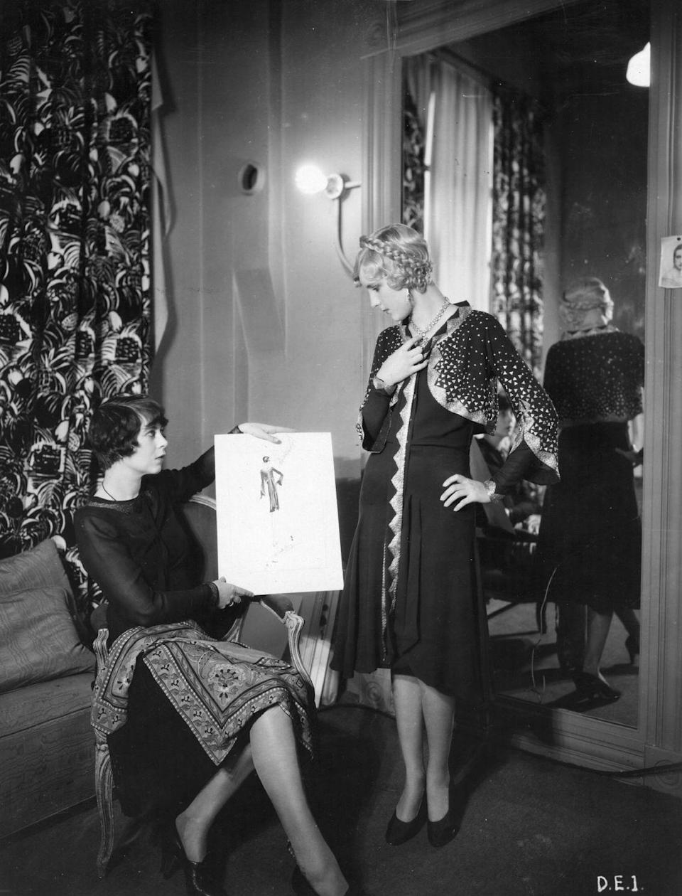 <p>The 1930s were a complex time in fashion. With America in the Great Depression, people weren't spending as much money on clothing. For those who weren't struggling financially, a new host of patterns and textures was introduced, including a more diverse wardrobe like ... wait for it ... pants!</p>