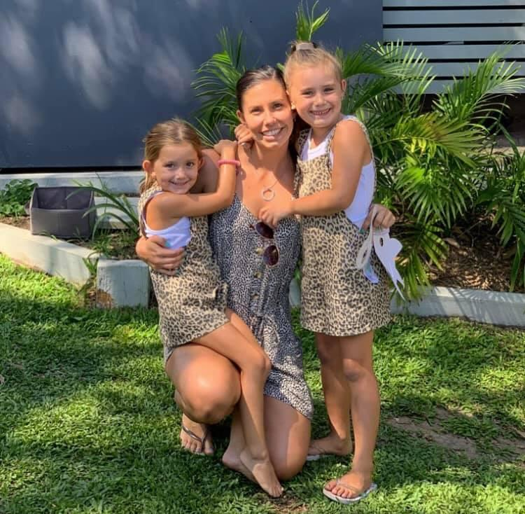 Hannah Clarke pictured with her daughters Aaliyah, 6, and Laianah, 4.