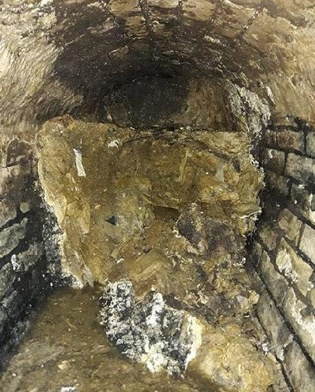 Fatberg found in London swerer