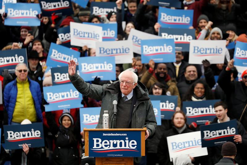 Sen. Bernie Sanders, I-Vt., speaks at a rally in Brooklyn on Saturday. (Photo: Andrew Kelly/Reuters)