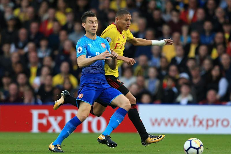 Good news   Koscielny was forced off against Watford: Stephen Pond/Getty Images