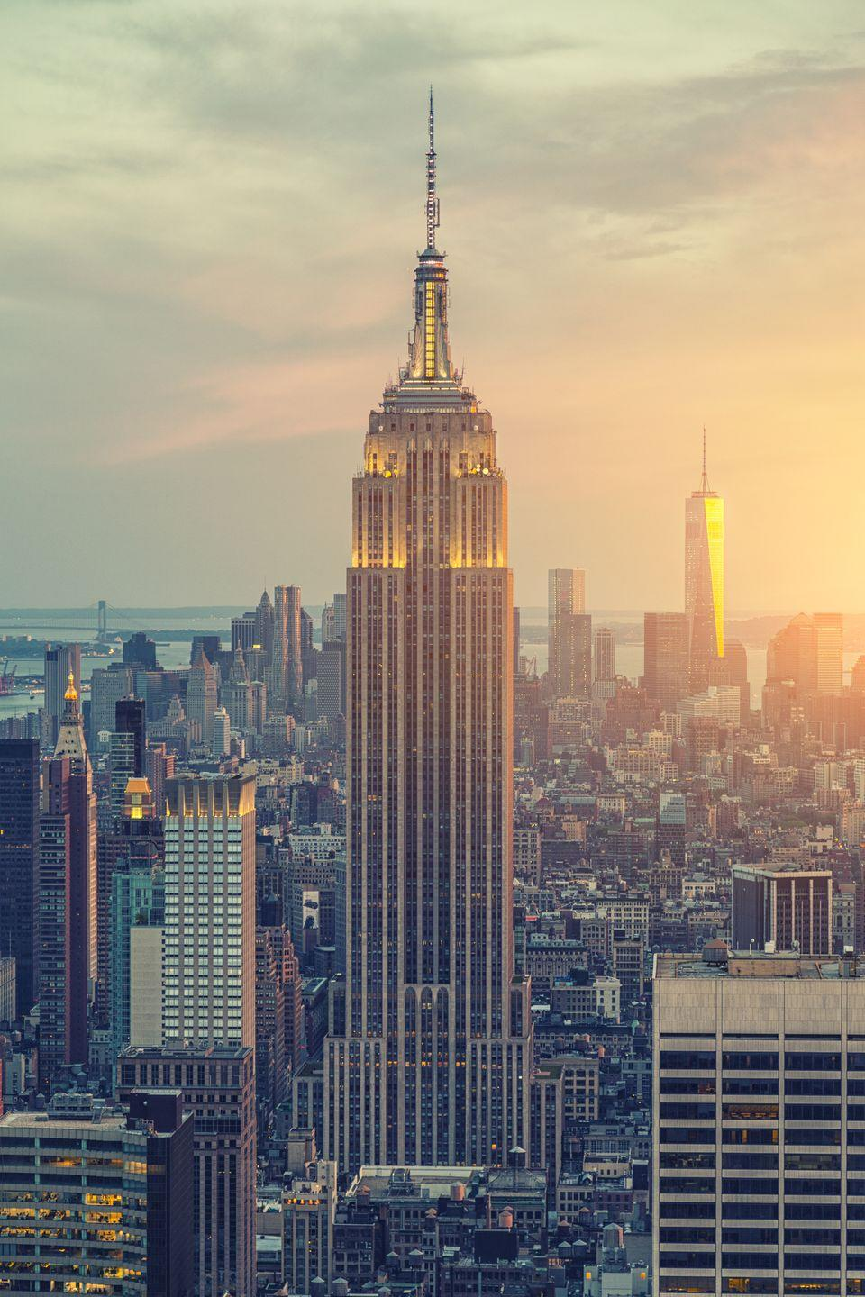 """<p>The Empire State Building is a familiar sight (even to those who have only seen it on screens or photos), but you might not know that the landmark building actually <a href=""""https://www.esbnyc.com/about/facts-figures"""" rel=""""nofollow noopener"""" target=""""_blank"""" data-ylk=""""slk:has its own zip code"""" class=""""link rapid-noclick-resp"""">has its own zip code</a> (10118). </p>"""