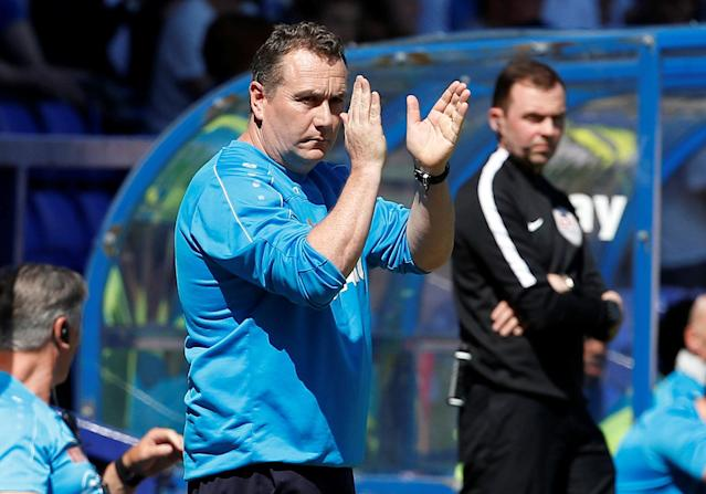 """Soccer Football - National League Play-Off Semi Final - Tranmere Rovers vs Ebbsfleet United - Prenton Park, Birkenhead, Britain - May 5, 2018 Tranmere Rovers manager Micky Mellon before the match Action Images/Craig Brough EDITORIAL USE ONLY. No use with unauthorized audio, video, data, fixture lists, club/league logos or """"live"""" services. Online in-match use limited to 75 images, no video emulation. No use in betting, games or single club/league/player publications. Please contact your account representative for further details."""