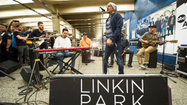 PHOTO: Linkin Park gave a surprise performance at New York City's Grand Central Terminal as part of Pop-Up Week on 'GMA.' (Jeff Neira/ABC News)