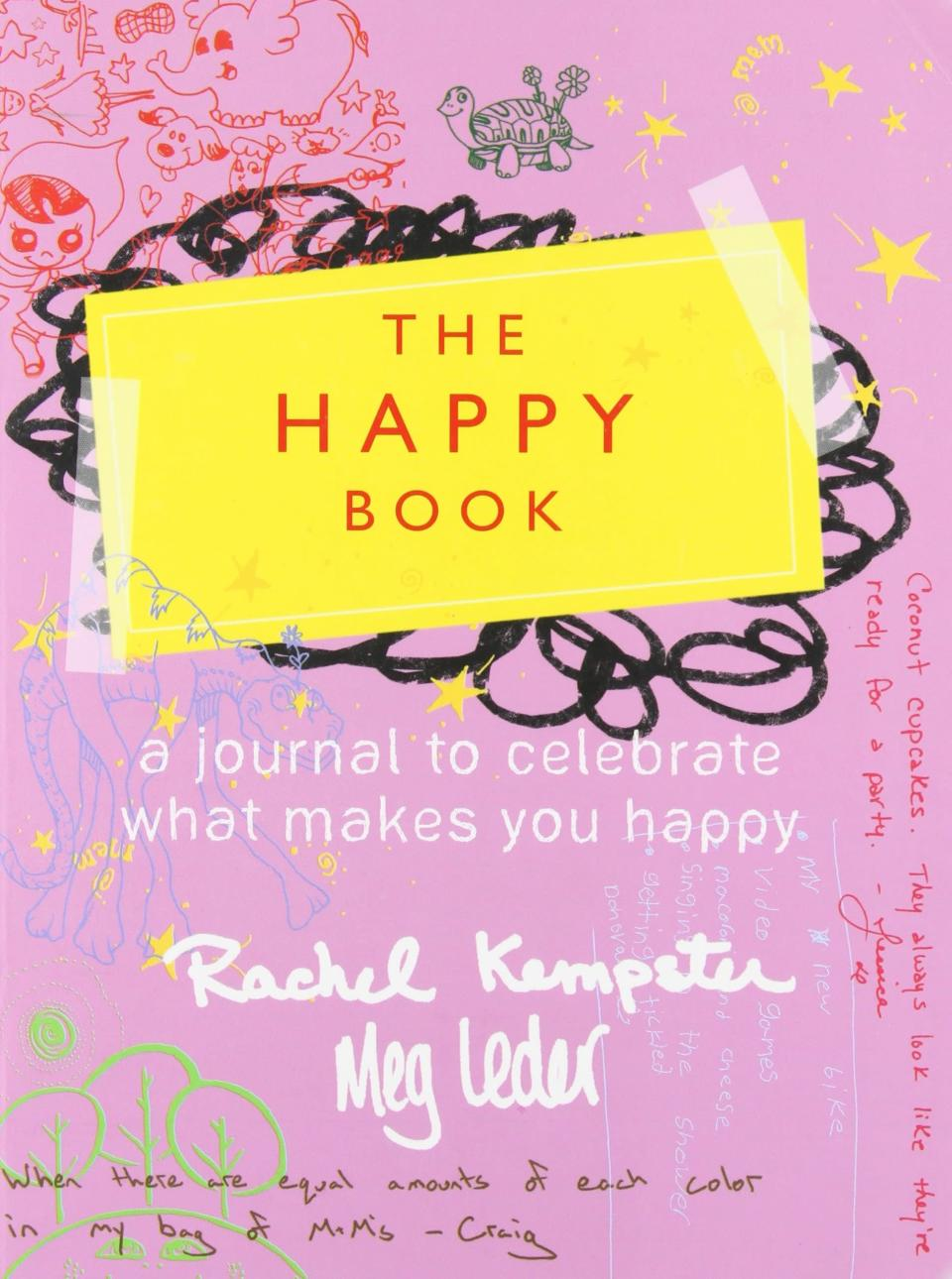 <p>A total pick-me-up, <span>The Happy Book</span> is interactive and full of interesting prompts, crazy ideas, and cool activities to help you tap into your inner glee. </p>