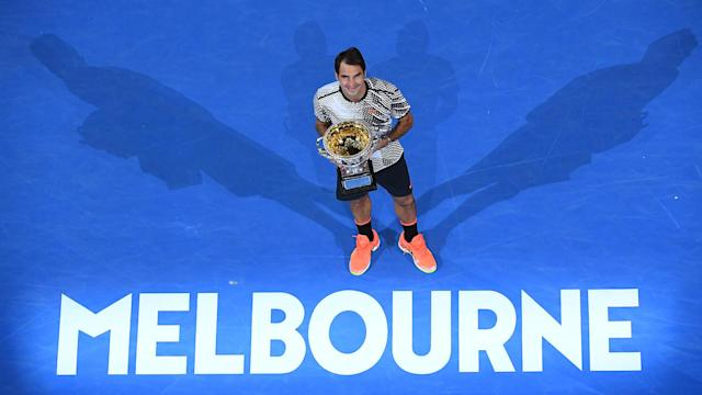 An enthralling five-set win over Rafael Nadal in the Australian Open final saw Roger Federer clinch his 18th grand slam title.